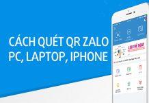 Hướng dẫn cách quét mã QR Zalo trên máy tính , PC, iPhone